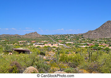 Aerial View of Scottsdale, Arizona - Aerial View of New...