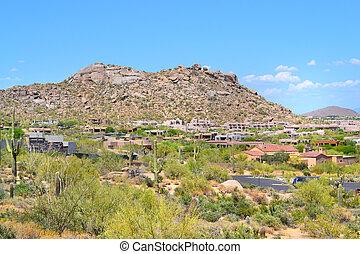 Scottsdale, 航空写真, アリゾナ, 光景