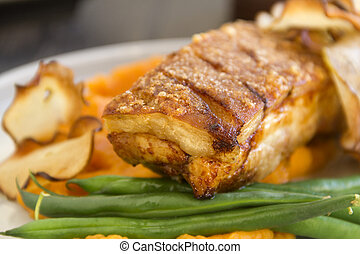 Roast Pork Belly - Delicious roasted pork belly with...