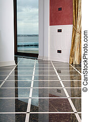 clean dalle floor in the expensive interior