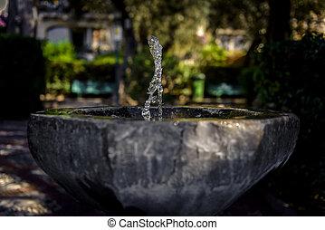 agua, fuente