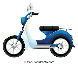 A motorbike - Illustration of a motorbike on a white...