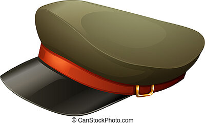A hat with a red belt - Illustration of a hat with a red...