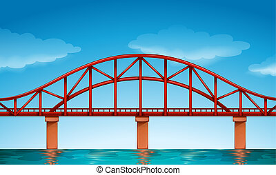 A beautiful bridge - Illustration of a beautiful bridge