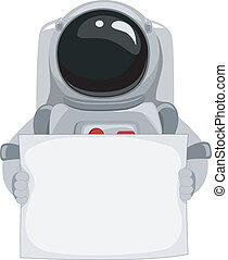 Astronaut Blank Banner - Illustration of an Astronaut...