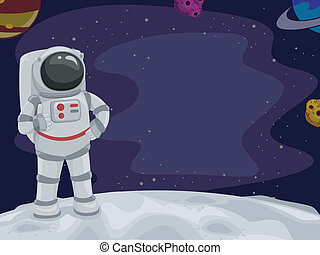 Astronaut Thumbs Up - Illustration of an Astronaut Giving a...