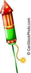 A colorful firecracker - Illustration of a colorful...