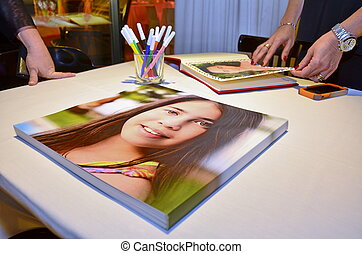 Bat Mitzvah Photobook Album - People looking at a fancy Bat...