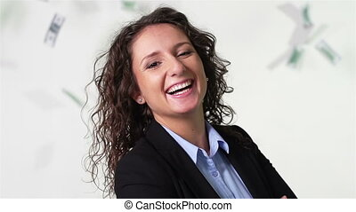 Wealthy Woman - Close-up of a lovely businesswoman smiling...