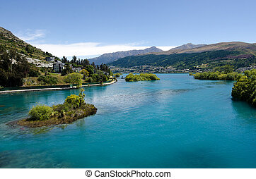 Lake Wakatipu near Queenstown, Otago New Zealand.