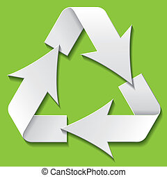 Recycling symbol. Vector illustration