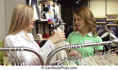 Lovely Assistant - Pretty assistant helping her customer...