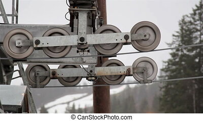 Big roller pulleys rolling - Big eight roller pulleys are...