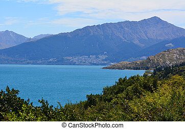 Lake Wakatipu near Queenstown, Otago New Zealand