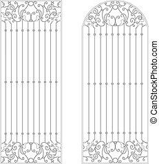 iron rod vintage pattern