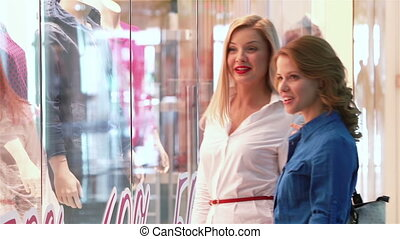 Friends Shopping - Charming friends enjoying their weekend...
