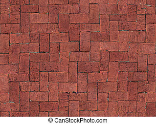 Seamlessly tiling red brick floor texture