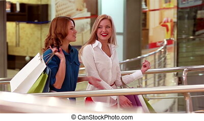 Happy Time - Ladies having a good time doing shopping at the...