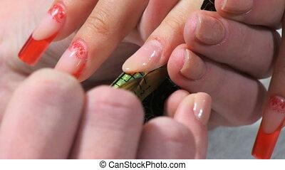 Manicure making