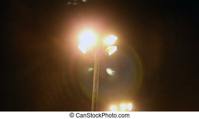 The light posts on the ski resort - The tall light posts...