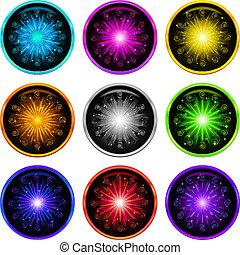 Firework, set buttons