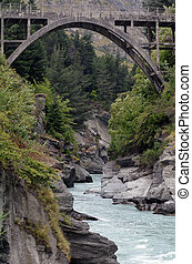 Queenstown New Zealand - The Bridge over the Shotover River...