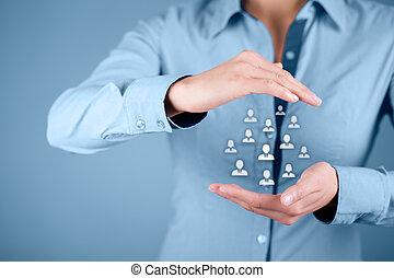 humano, recursos, cliente, cuidado