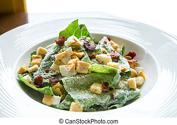 Ceasar Salad with bacon bit