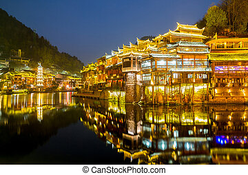 Fenghuang ancient town China - Fenghuang Phoenix ancient...
