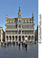 the main square in Brussels - BRUSSELS, BELGIUM - FEBRUARY...