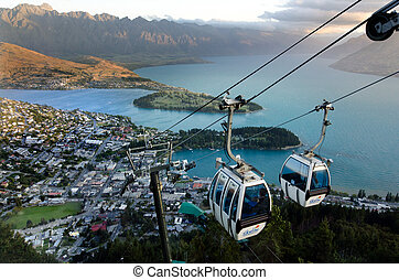 Skyline Gondola Queenstown NZ - QUEENSTOWN, NZ - JAN...