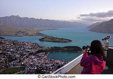 Queenstown New Zealand - QUEENSTOWN, NZ - JAN 17:Visitor in...