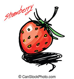 STRAWBERRY HAND - DRAWN