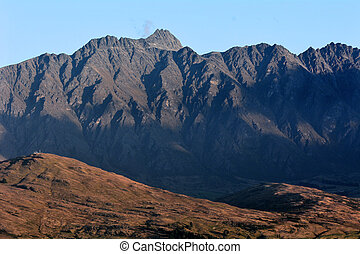 Queenstown New Zealand - The Remarkables mountain range near...