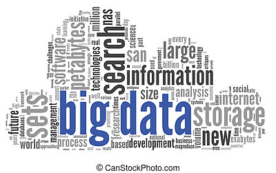 Big data concept in word cloud - Big data concept in word...