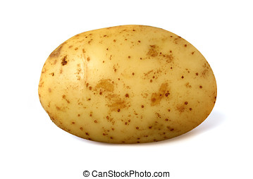Potato - Single potato isolated over a white background