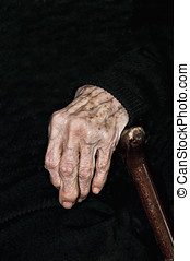 Hands of elderly person - Detail of the hands of an elderly...
