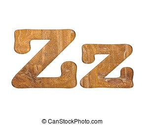 Letter Z wooden. - Illustration with Z letter in wooden on...