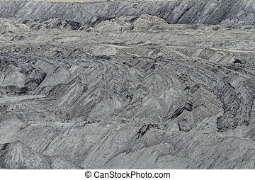 Mine - Coal mining in an open pit