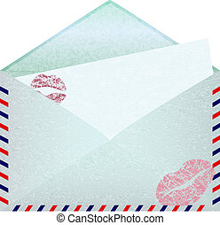 Envelope with paper sheet.