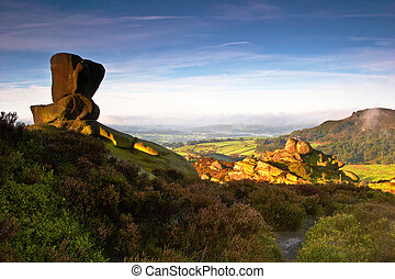 Ramshaw View - The view from Ramshaw Rocks to Hen Cloud as...