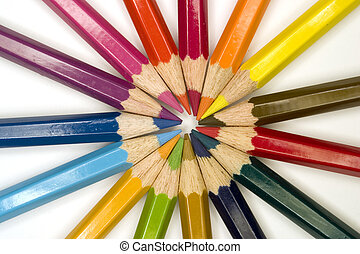 Colorful Pencils - Stock photograph of brightly colored...