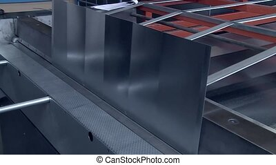 Press Brake - video footage of a metal working with steel in...