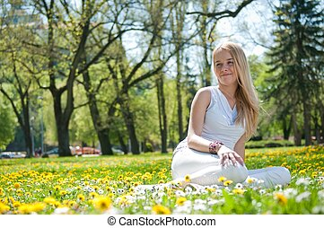 Enjoy life - happy young woman