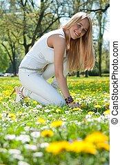 Enjoying life - smiling young woman
