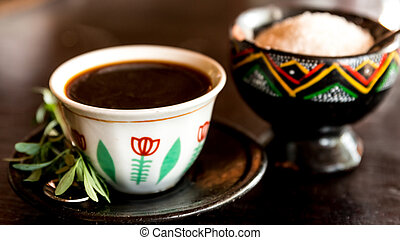 Traditional Ethiopian Coffee - Traditional cup of Ethopian...