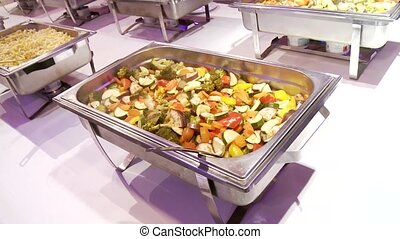 Buffet	 - video footage of a buffet
