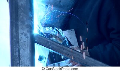 Welding - video footage of a welding operator