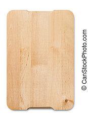 wooden cutting board - A wooden cutting board isolated on a...