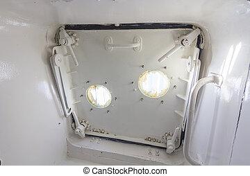 airtight hatch door of a ship